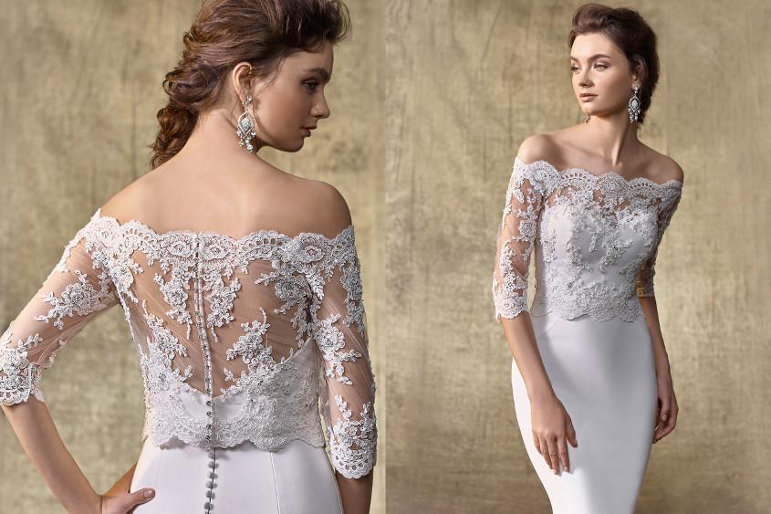 Csipkés menyasszonyi ruha bolero