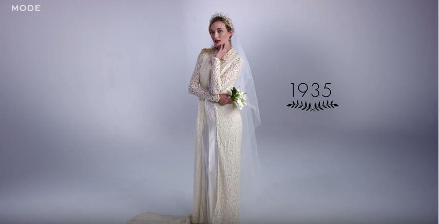Az 1930-as evek menyasszonyi ruha trendje