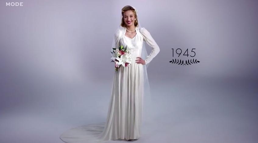 a 40-es evek eskuvoi ruha trendjei