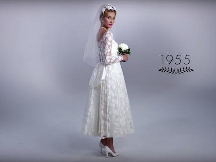 az 1950-es evek menyasszonyi ruha trendje