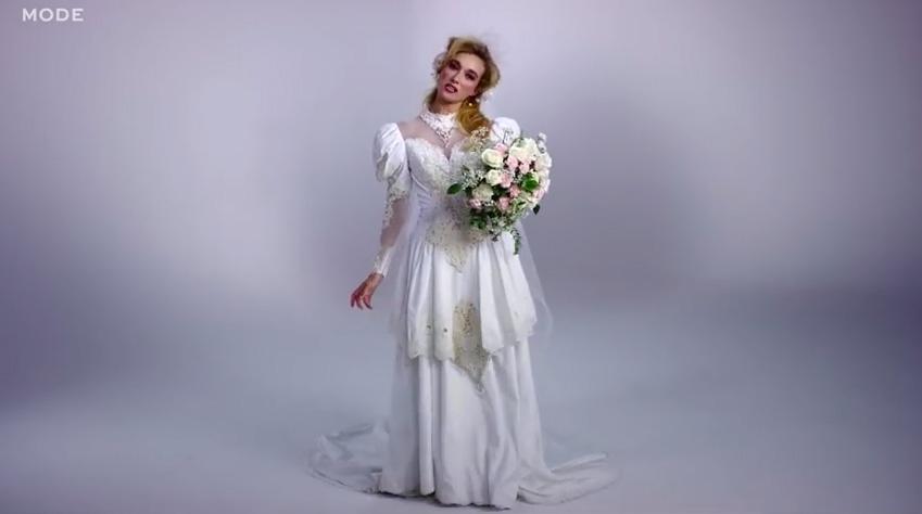 menyasszonyi ruha a 80-as evekbol