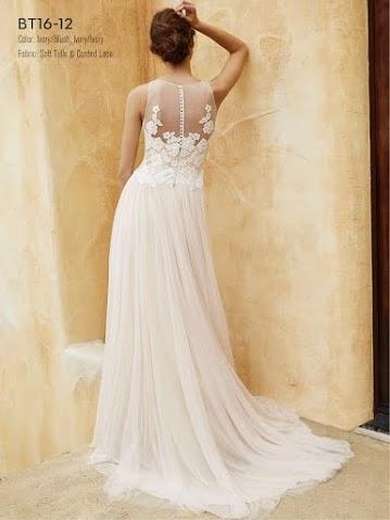 Beautiful ny Enzoani BT16-12 menyasszonyi ruha hatulrol