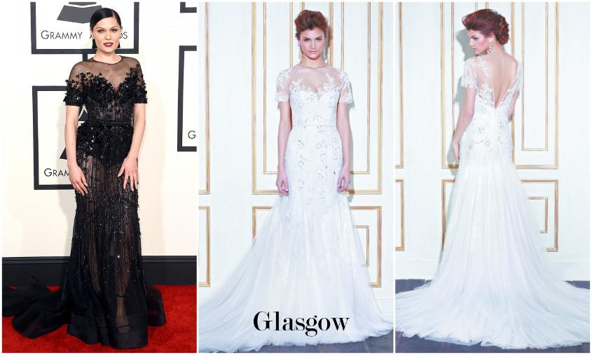 Blue by Enzoani Glasgow menyasszonyi ruha a Grammy gálán