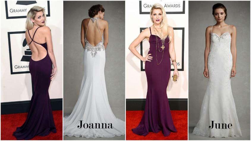 Joanna es June nevu eskuvoi ruhak a Grammy gálán