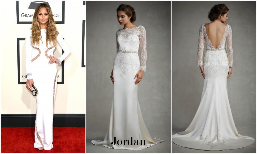 Enzoani Jordan menyasszonyi ruha a Grammy gálán