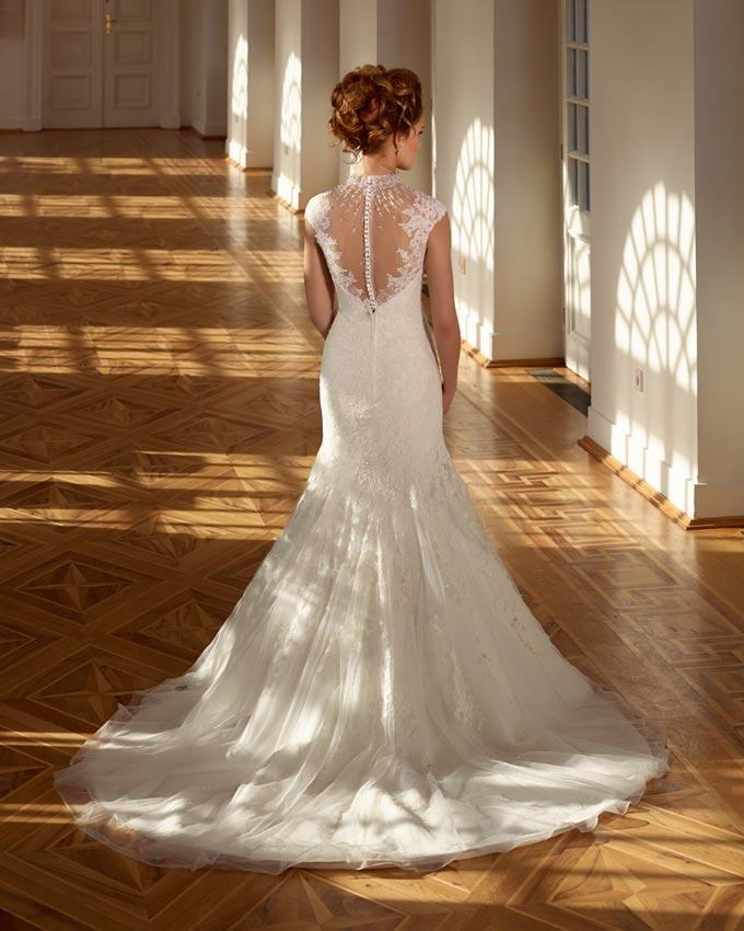 sellő fazonú menyasszonyi ruha