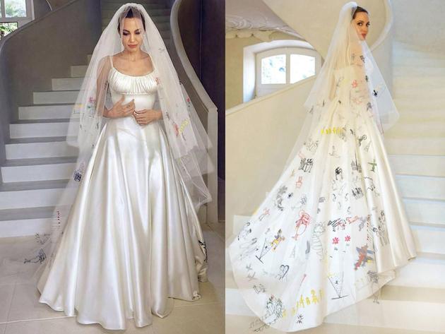 Angelina Jolie eskuvoi ruhaja