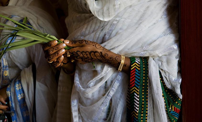 tradicionalis etiop menyasszonyi ruha