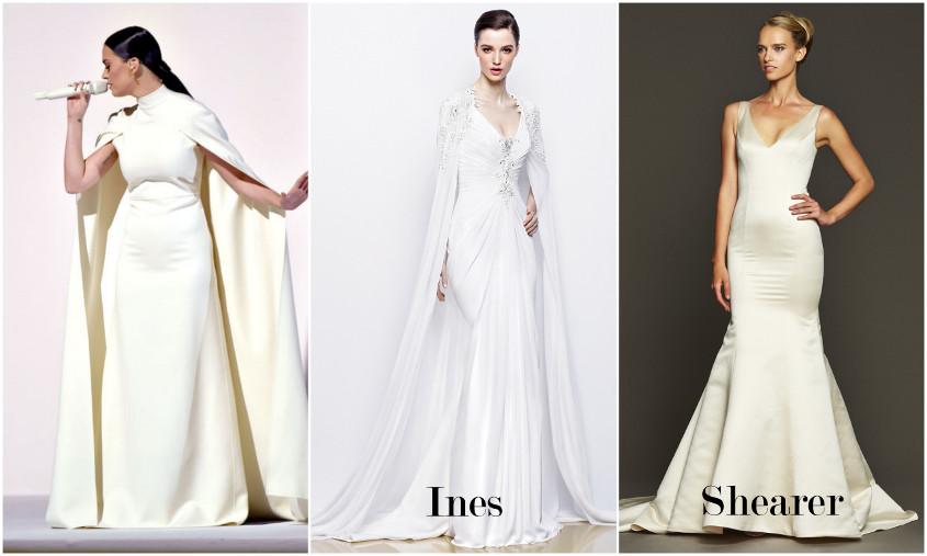 Ines es Shearer menyasszonyi ruhak a Grammy gálán
