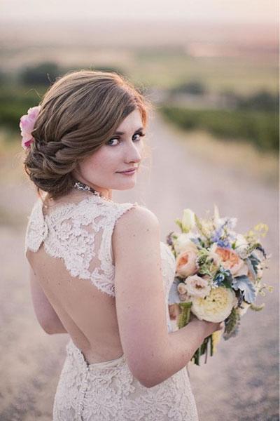 Menyasszonyi frizura