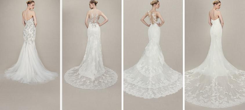 menyasszonyi ruha, uszályokról készített montázs