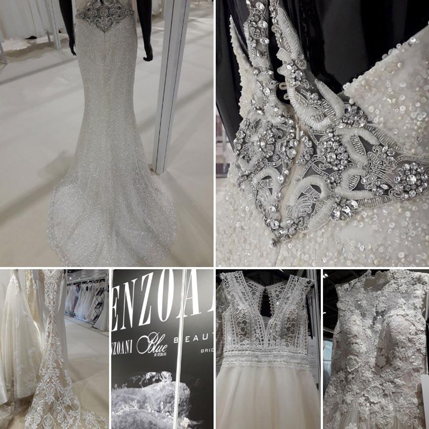 Enzoani esküvői ruha kollekciók, a 2019-es év esküvői ruha trendjei alapján.