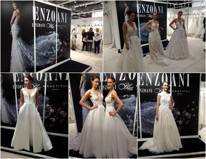 Enzoani esküvői ruha kollekciók a 2019-es trendek alapján a londoni esküvői ruha hetek kiállításon.