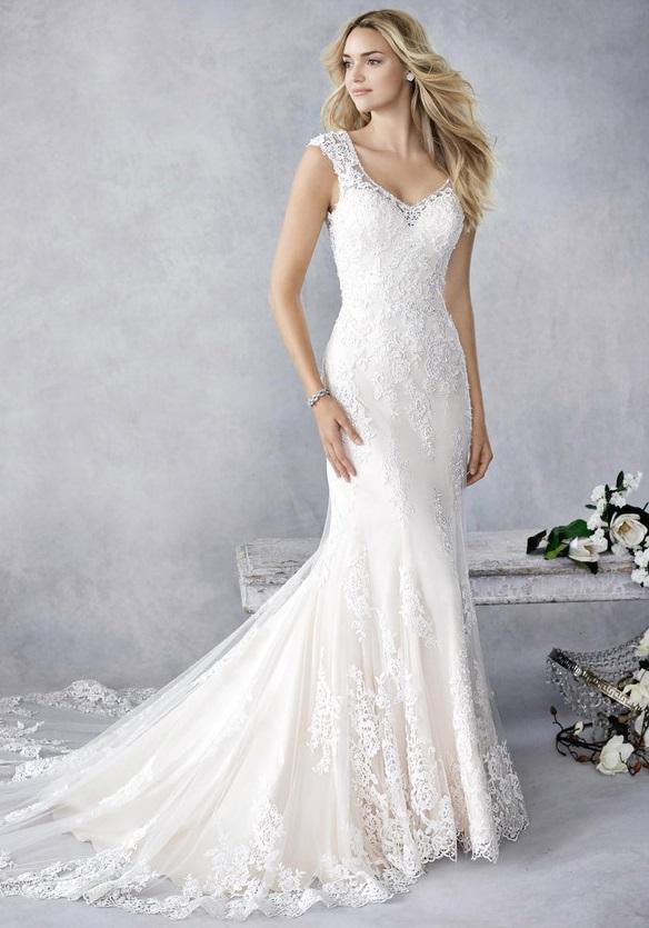 Vintage stílusú, nyári esküvőre tökéletes esküvői ruha