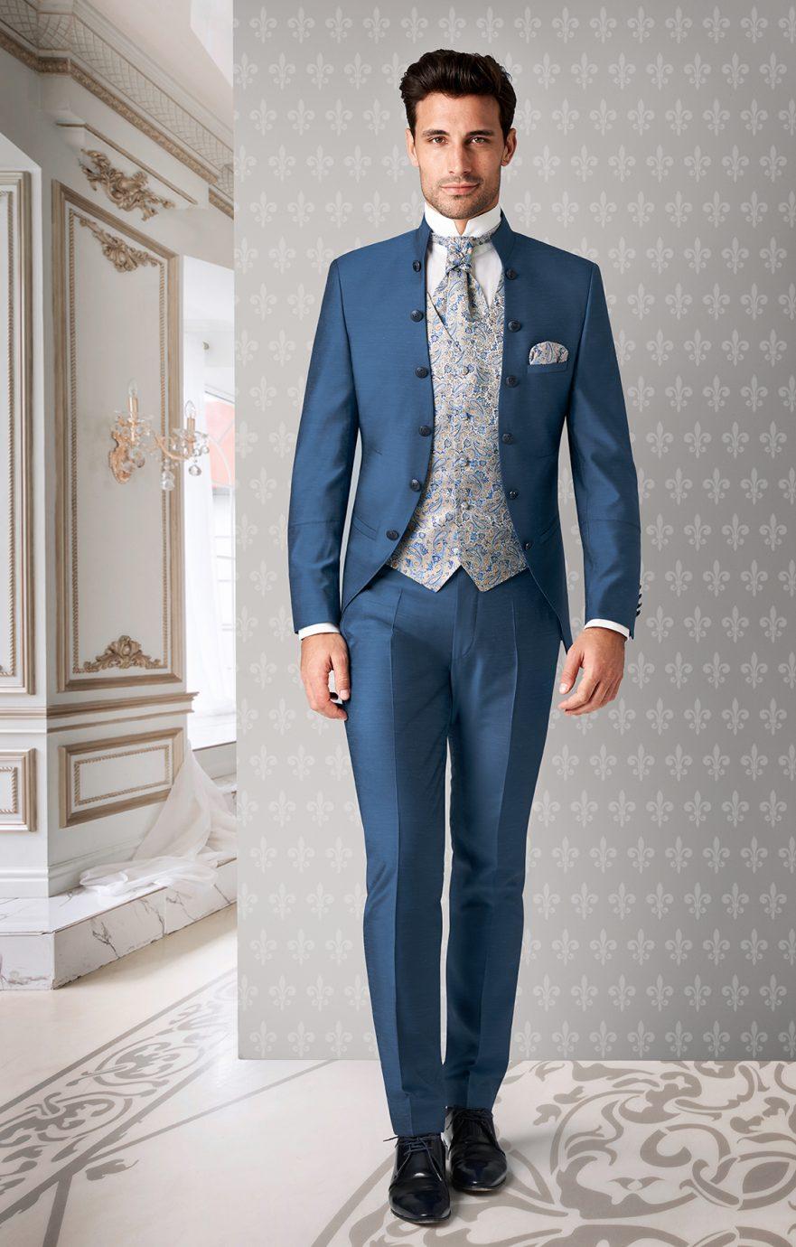 Klasszikus Tziacco esküvői öltöny, stílusos és részletgazdag vőlegény öltöny.